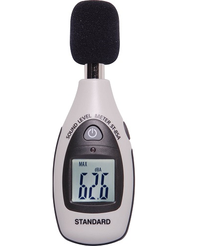Compact pocket sized SPL meter for general purpose sound level measurement.